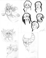 Drawings from Art Night by JMFenner91