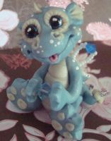 polymer clay dragon bayle by crazylittlecritters