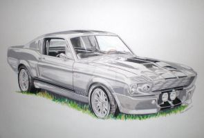 eleanor mustang artwork by domrexsin