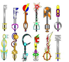 Keyblade Set 1 - Kirou by JohnBerryArtworks