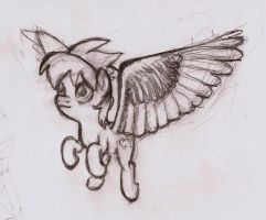 Horse with Owl Wings by shoeunit
