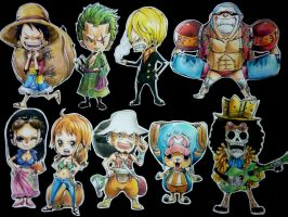 Straw hat crew by Fuka-Enrique