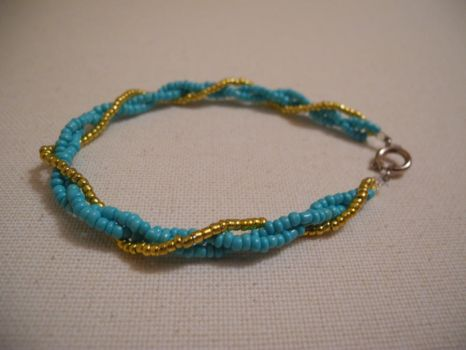 twisted bead bracelet by imma-flower-child