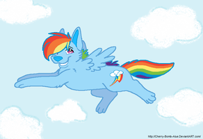 Rainbow Dash doggeh by AJ-Shep