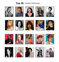 Top 20 Comedic Influences (DESCRIPTION) by nikkichic109