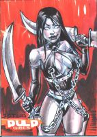 Vampblade sketch card by DJLogan