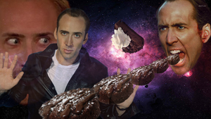 nick cage loves chocolate pudding by dragonitearmy