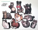 Pet commission magnets group2 by Linzu
