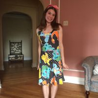 Look at me in my new Pokemon dress! by Blaria95