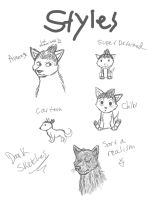 Some styles practice :P by DarkChocaholic