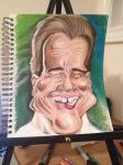 Process: Arnold Schwarzenegger Caricature 7 of 10 by AcrylicInk