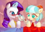 Rarity and Coco by amy30535