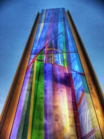 Cathedral Coloured Column HDR by Paul-Madden