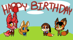 Sega's Gift Trilogy - Foxy greetings by Cookie-and-her-foxes