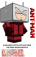 Ant-man Cubeecraft 3D-model by JagaMen