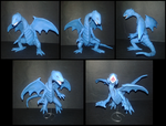 blue-eyes white dragon plastilina by fsalkatras