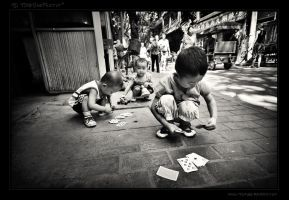 Gambling in the streets by tisbone