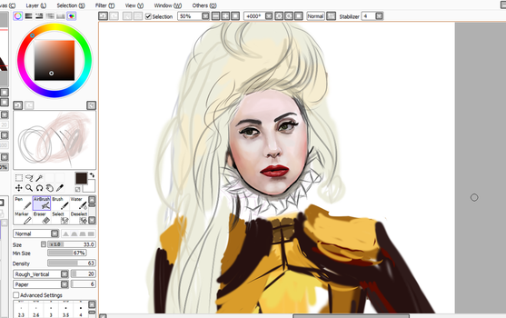unfinished Gaga ^_^ by FireLioness