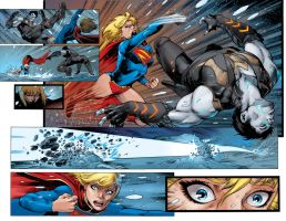 SUPERGIRL#26 Double page by danielSbrown