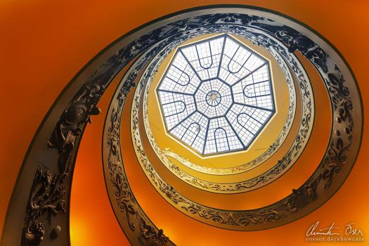 Vatican Stairs 3 by Nightline