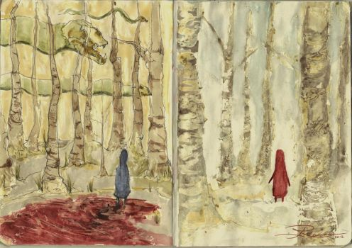 Sketchbook Project 2011 - Forest by AGhostDreamCG