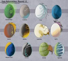Egg Adoptables - Round 12 (All Gone!) by Ulario