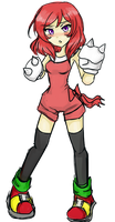 maki the echidna by BBQgoth