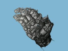 robot hand, by croustipote