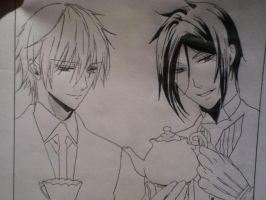 black butler and inu X boku SS by llamperouge3