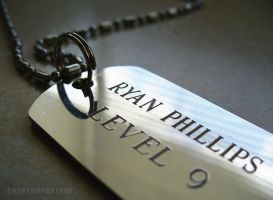 Photo - Ryan Phillips Dog Tag by phantompanther