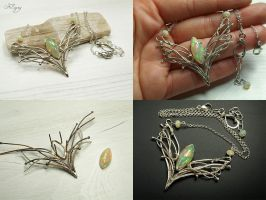 Melian - Opal Necklace by FILIGRY