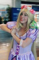 Rapunzel cosplay Tangled Disney by MissWeirdCat