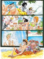 one piece summer day by heivais