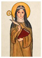 St. Bridget of Sweden by mephetti
