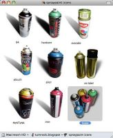 Spraypaint Can icon set by turnrock