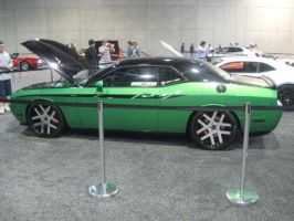 Dodge Challenger RT Light Green and Black Tuned by granturismomh