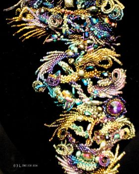 Audrey 111 The Choker detail by Mortsbeads