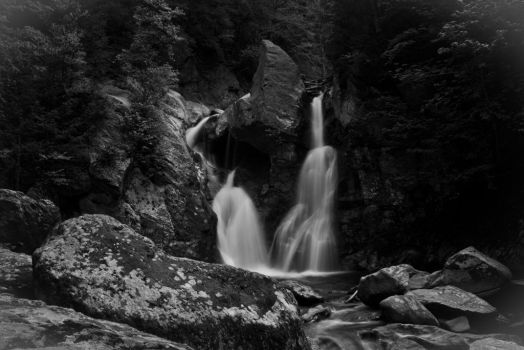 Copake Falls BW 5 by StephenMPhotography