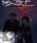 Lone Ranger: Happy July 4th by wolf-pirate55