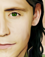 Rainbow Eye-(Loki) by MischievousMonster