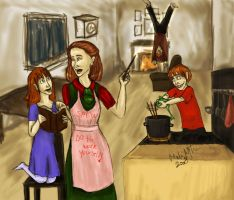 Hermione as super mum by Weasley-is-my-king