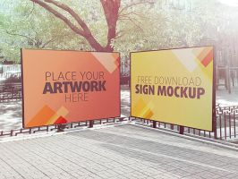Free Sign Mockup by Designslots