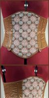 Brown Celtic Knotwork Corset by taeliac