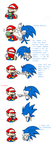 Mario vs Sonic by Grimor-san