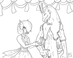 UBF Prom: Damian and Poi by The-Clockwork-Crow