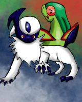 Flygon and Absol Request by SilverLucario12