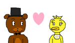 RQ: Freddy x Chica by Toongirl18