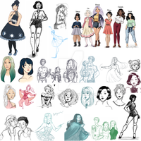 Sketchdump #2 - January to April by Resa-hina