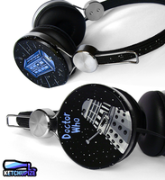 Doctor Who handpainted Headphones by Ketchupize