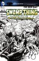 Swamp Thing Half Fig. cover with Inks for Quinn by jeffreyedwards